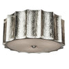 Hammered Star Nickel Ceiling Mount