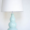 Spa Blue Ceramic Gourd Lamp