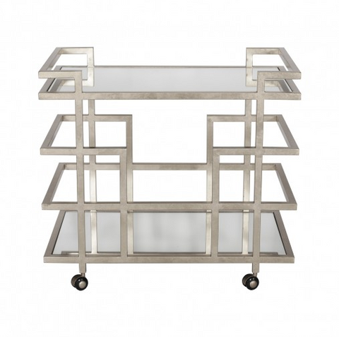 Worlds Away Ireland Linear Bar Cart
