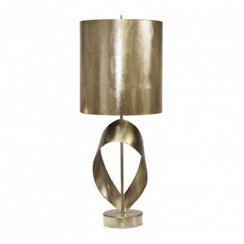 Worlds Away Jennings Brutalist Ribbon Table Lamp
