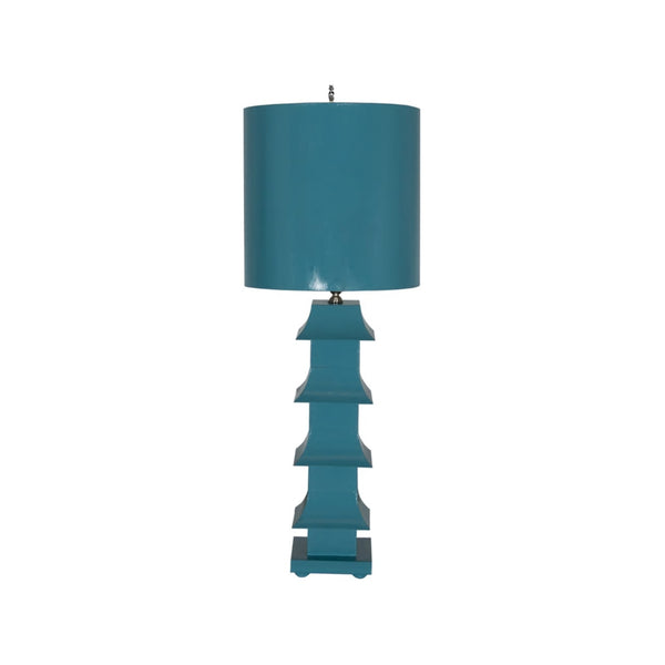 Worlds Away Painted Tole Lamp
