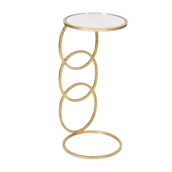 Worlds Away Lola Gold Leaf Round Cigar Table