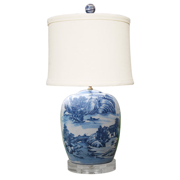 Old Country Blue and White Lamp