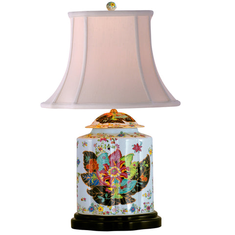 Tobacco Leaf Tea Jar Lamp