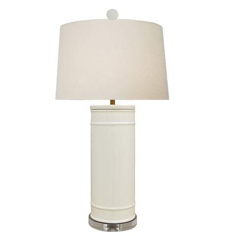 Dove White Vase Lamp