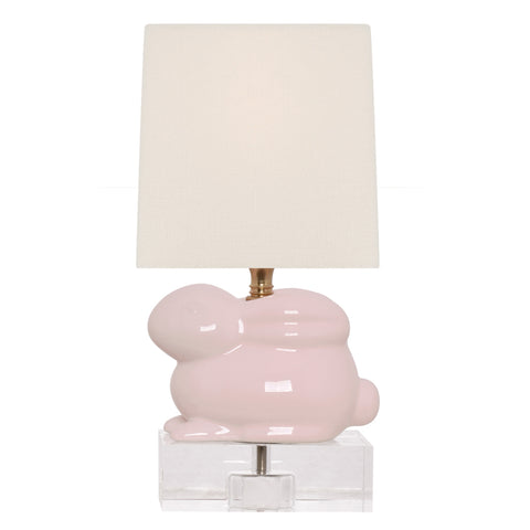 Pale Pink Bunny Lamp