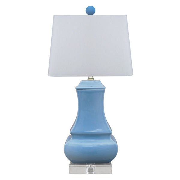 French Blue Gourd Lamp