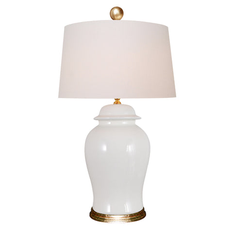 White Ginger Jar Lamp