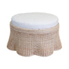 Large Scallop Ottoman with Cushion