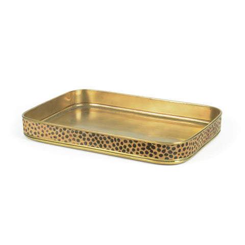 Leopard Edge and Brass Tray