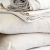 Linen sheet set flax close