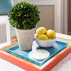 Boxwood Topiary on coffee table