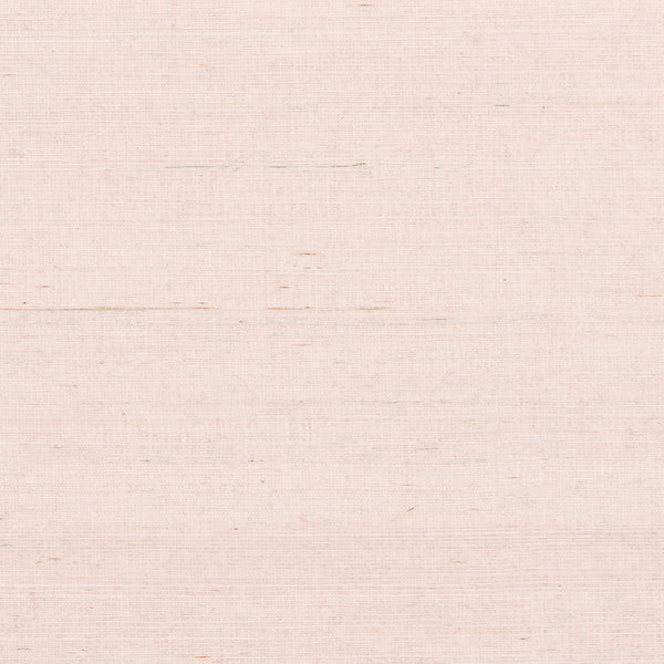 Petal Pink Grasscloth Wallpaper