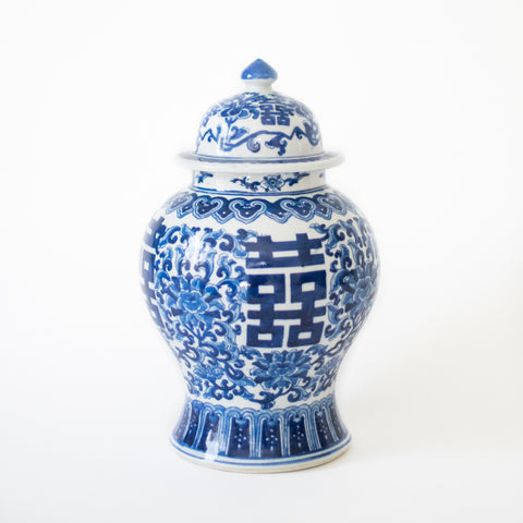Traditional Blue and White Ginger Jar