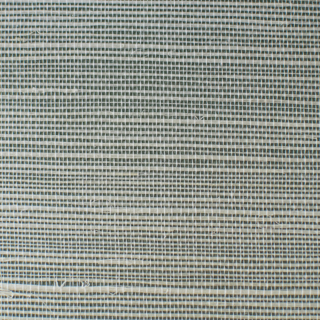 Blue And Ivory Striped Grasscloth Wallpaper