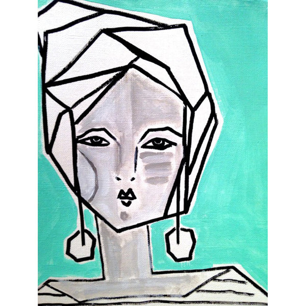 Mia Abstract Face Print