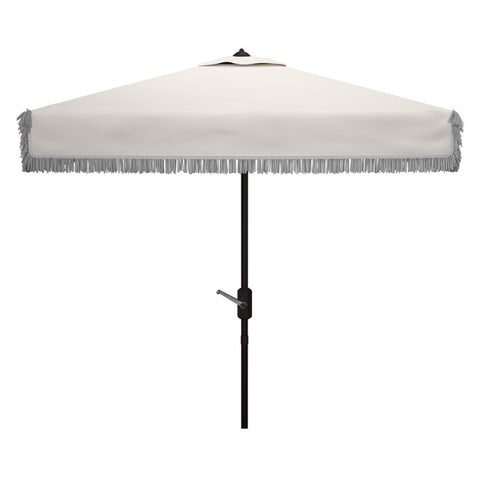 Milan Fringe 7.5' Square Crank Umbrella
