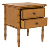 Lucy Coastal 2-Drawer Side Table