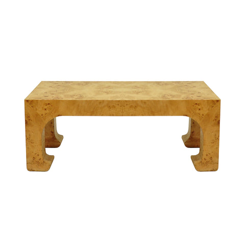 Worlds Away Nicola Coffee Table - Burl Wood