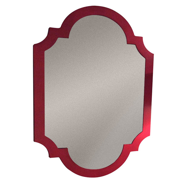 Red Chippendale Mirror