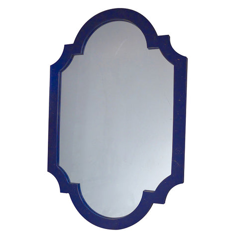 Navy Chippendale Mirror