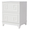 Worlds Away Pagoda White Night Stand