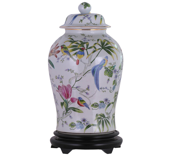 Tropical Ginger Jar with Base