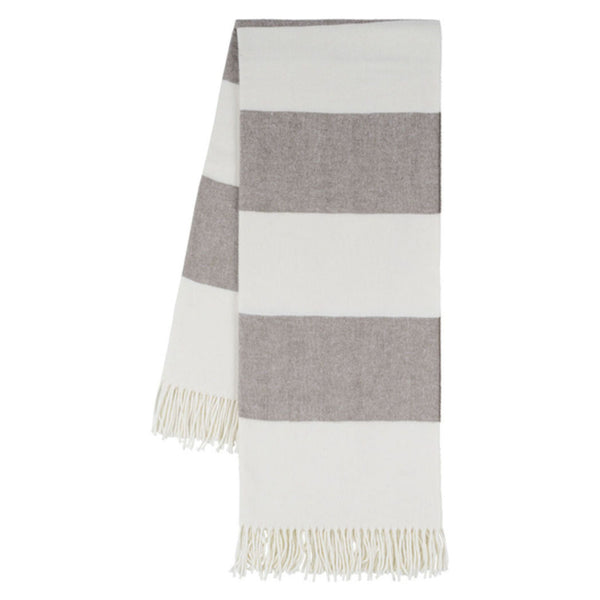 Rugby Stripe Herringbone Throw