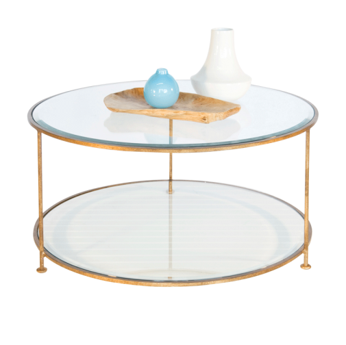 Worlds Away Rollo Round Coffee Table
