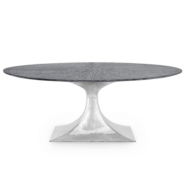 Bungalow 5 Stockholm Small Oval Dining Table Nickel