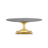 Bungalow 5 Stockholm Small Oval Dining Table Brass