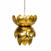 Worlds Away Gold Blossom Pendant