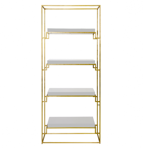 Worlds Away Shadow White Etagere