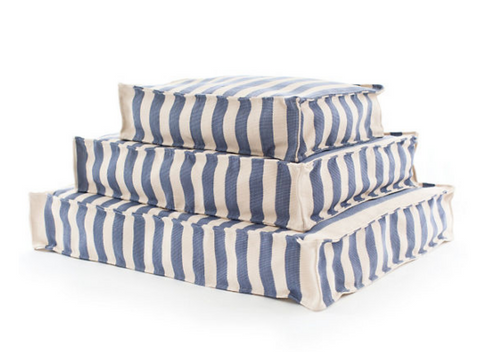 Trimaran Stripe Denim and Ivory Dog Bed