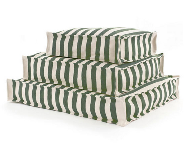 Trimaran Stripe Pine and Ivory Dog Bed