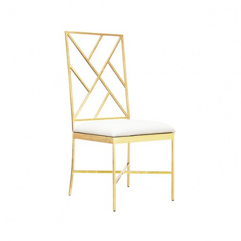 Ashton Gold and White Chair