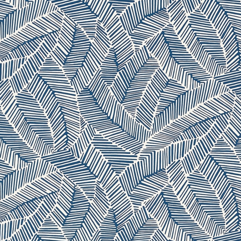Abstract Leaf Navy Wallpaper