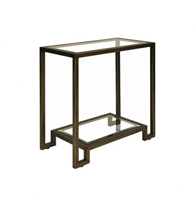 Worlds Away Domino Side Table