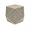 Worlds Away Selma Side Table