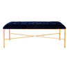 Worlds Away Gold Leafed Stella Bench