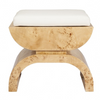 Worlds Away Biggs Stool - Burl Wood