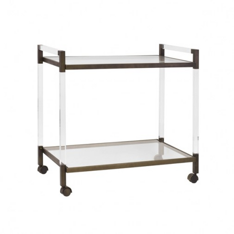 Worlds Away Archie Bar Cart