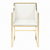 Worlds Away Anabelle Chair Brass