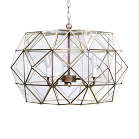 Worlds Away Rozz Pendant 3 Light
