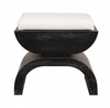 Worlds Away Biggs Stool -  Black Oak