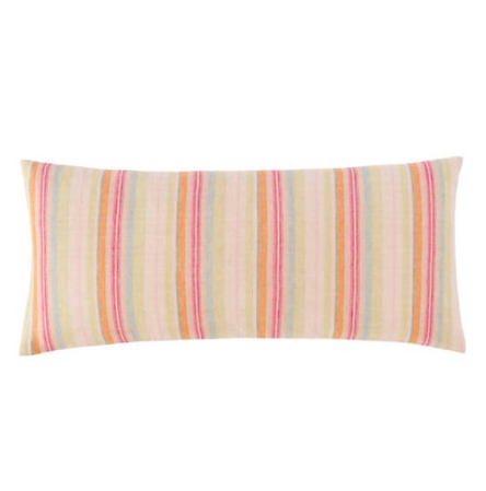 Riviera Stripe Linen Decorative Pillow