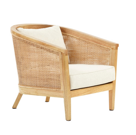 Valencia Club Chair Wood Frame Woven Rattan Color