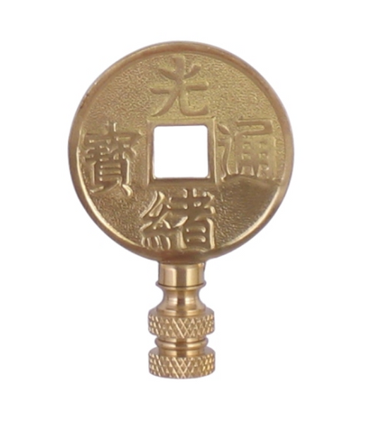 Solid Brass Coin Finial
