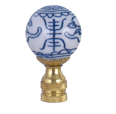 Blue and White Happiness Finial