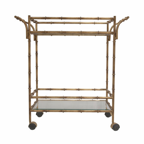 The Bamboo Trolley Bar Cart